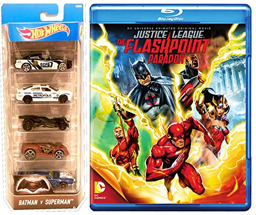 DCU: Justice League: The Flashpoint Paradox (Blu-ray) & Batman VS Superman Hot Wheels Bundle Movie Car Pack