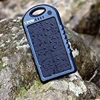 Upow 5000mAh Solar Panel Charger with Bl...