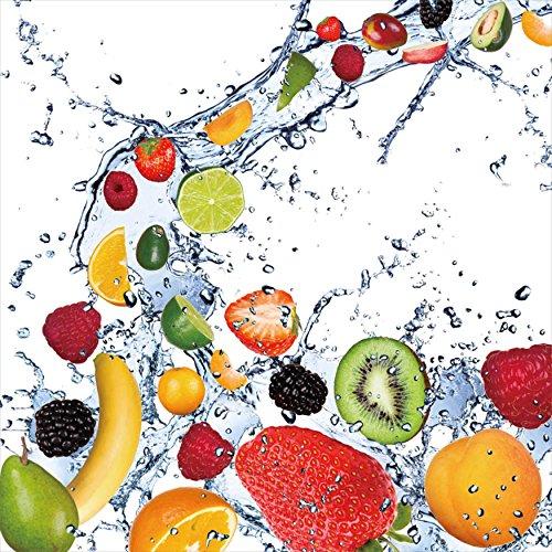 Cortesi Home Fruit Splash II Tempered Glass Wall Art, 12