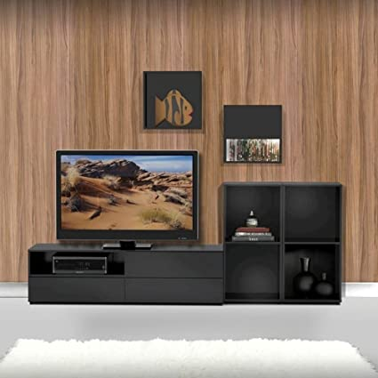 Modern TV Stand Kit With Two Wall Cubes FMP25130
