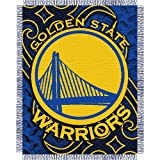 "BSS - Golden State Warriors NBA Triple Woven Jacquard Throw (Tattoo Series) (48x60"") at Amazon.com"