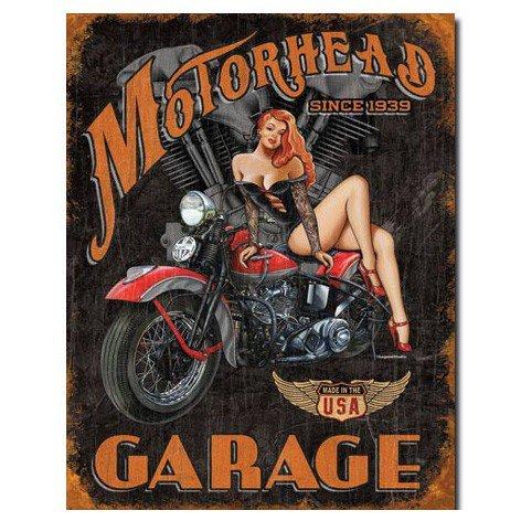 Motorhead Garage Since 1939 Pin Up Girl Garage Sign
