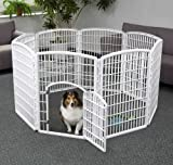 Iris CI-908 Indoor/Outdoor Plastic Pet Pen, 8 Panels