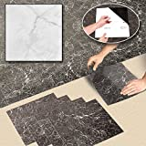 Greatest Purchase WHITE FAUX MARBLE FLOOR TILE SQUARES | 20 Vinyl Tiles Sale