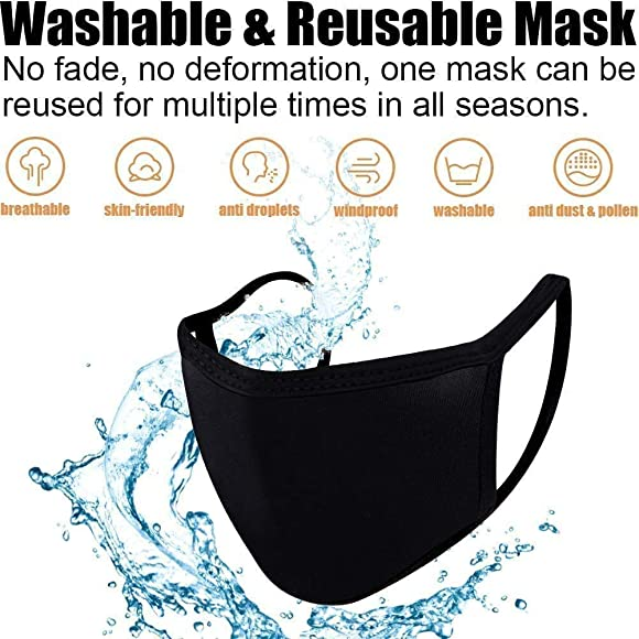 2 in 6 Colours Breathable /& Comfortable Face Protection Cover Dannii Matthews Childrens Washable Face Cover with 3 Layers