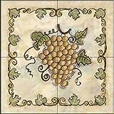 The Tile Mural Store - Sweet Grapes II by Joy Alldredge - Kitchen Backsplash / Bathroom wall Tile Mural