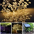 Kootek® Solar Powered 100 LED String Lights Christmas Fairy Lighting Strip String for Outdoor Gardens Homes Party Christmas Tree Window Landscape Decoration (Warm White)