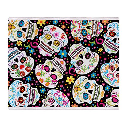 Skull Throw Blanket back-1077976