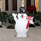 3.5 Ft. Tall Yard or Lawn Christmas LED Inflatable Frosty the Snowman with Light Decor | Perfect Accent with Other Holiday Ornaments or By the Tree | A Great Gift
