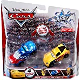 Disney / Pixar CARS Stunt Racers Exclusive 2-Pack Raoul CaRoule & Jeff Gorvette