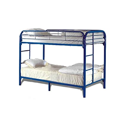 Milton Greens Stars 7540BL Dream Maker Twin Over Twin Bunk Bed, Blue