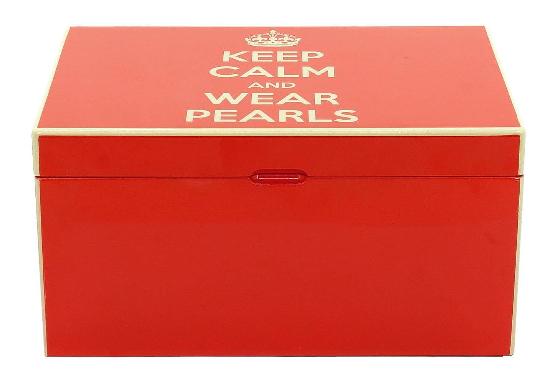 Friedrich|23 Damen-Schmuckkasten Keep Calm rot – 28001-3 als Weihnachtsgeschenk kaufen