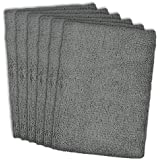 DII Kitchen Millennium Cleaning, Washing, Drying, Ultra Absorbent, Microfiber Dish Towel, Set of 6, Gray
