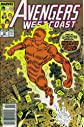 Avengers West Coast #50 : Return of the Hero (Re-Intro of the original Human Torch - Marvel Comics)