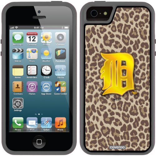 Great Sale Detroit Tigers - Leopard Print design on a Black iPhone 5s / 5 Guardian Case by Coveroo