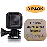 FINENIC?3-Pack? Screen Protector for Gopro Hero 4 Session Hero 5 Session. [ 9H Tempered Glass] [No White Edge][Easy-Install] (Color: Gopro Hero 4/5 Screen Protector)