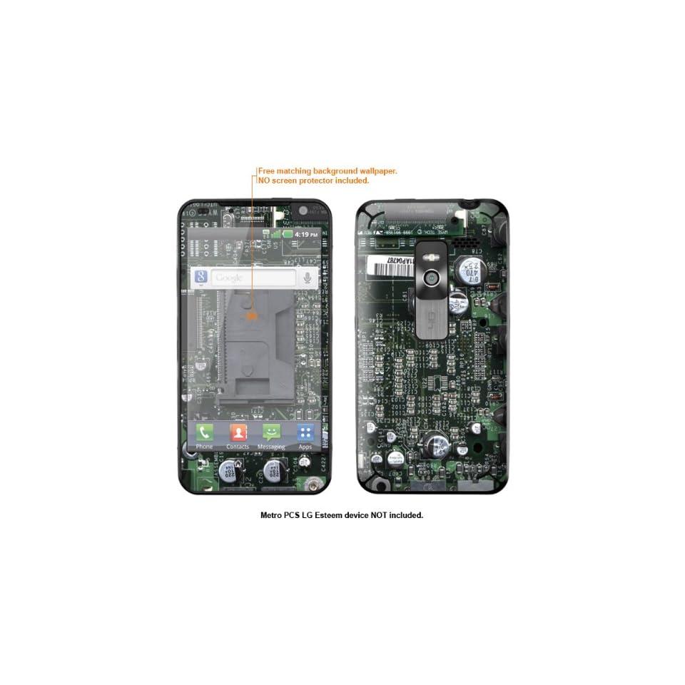 Protective Decal Skin Sticker for Metro PCS LG Esteem 4G case cover Esteem 631