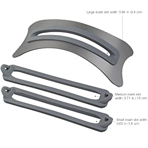 kilofly Arc Universal Adjustable Space Grey Aluminum Vertical Laptop Desk Stand (Color: Space Grey, Tamaño: 0.6-0.9 inch)