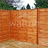 Waltons Garden Fencing Panels 5ft x 6ft Horizontal Hit and Miss 5x6 Fence New Posts 5x6 - Number of Panels Required: 2 - Number of 75mm Posts Required: 2