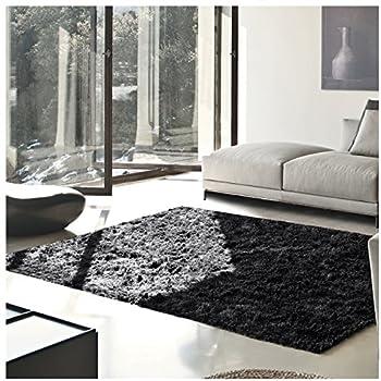 Superior Elegant Shag Rug, Plush and Cozy Hand Tufted Area Rugs, Chic and Contemporary Eyelash Shag Rug with Cotton Backing - 8' x 10' Rug, Black