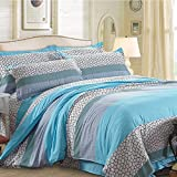 Cotton Blend Well Designed Print Pattern Duvet Cover Sets with Pillow Shams Full Queen Size