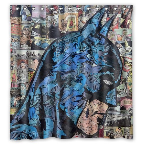 "Fashion press Flawless Gorgeous Creative Batman Shower Retro Curtain Shower 100% WaterProof Polyester Fabric 66"" x 72"" Inches Standard"