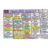 Ultimate NICU (Neonatal Intensive Care Unit) Survival Card 2015 4th Edition (Large 3.5x5.5 in.) Laminated with hole punched