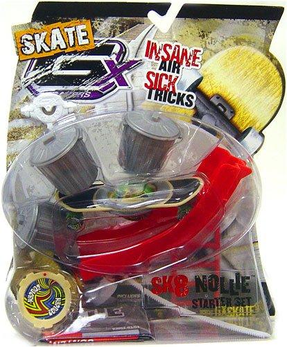 GX Racers Skate SK8 Nollie Stunt Starter Set with Hypnoz Deck Plate (Freeride Board)