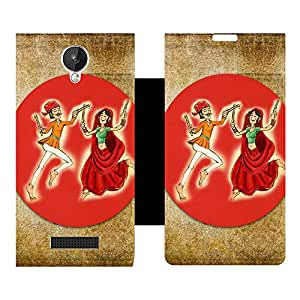 Phone Candy Designer Flip Cover with hi-res printed Vinyl sticker wrap-around for Micromax Canvas Spark