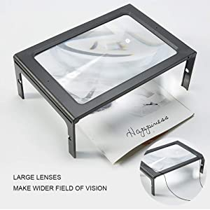 Magnifier Magnifying Glass with LED for Reading Lens Light Lighted Head Handheld Illuminated and Jewelry 3X Seniors Loupe Coins Crafts