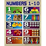 Numbers 1-10 Chart by School Smarts for Babies and Toddlers ?Durable Material Rolled and SEALED in a Plastic Poster Sleeve for Protection. Discounts are in the special offers section of the page.
