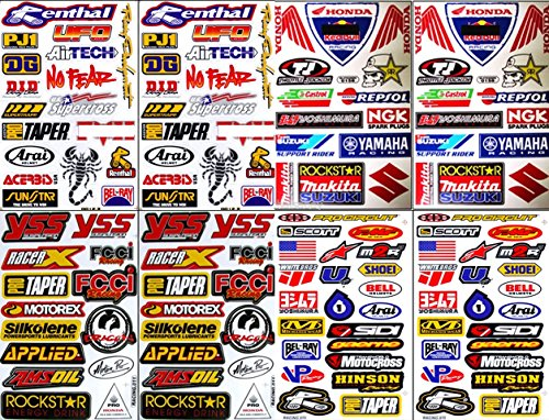 8X Atv Dirt Bike Helmet Racing Motorcycle Decal Sticker Sheets #Rc801