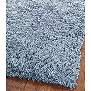 Safavieh SG240C Shag Collection Classic Handmade Light Blue Shag Area Rug, 3-Feet by 5-Feet