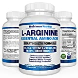 L-Arginine 1000mg Plus 340mg with L-Citrulline Cardio Heart Supplements | Nitric Oxide Boosters for Endurance and Energy | BioScience Nutrition USA | 60 Capsules