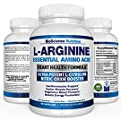 Cardio L Arginine Supplement 60 Capsules - Boost Nitric Oxide, Endurance & Energy Enhancement - Best L-Arginine + L-Citrulline 1340MG Formula Potent & Effective for Men Women and Teens - USA Made