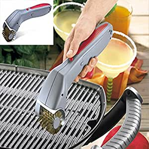 Cordless bbq cleaning grill brush bbq grills for Motorized grill brush with steam cleaning power
