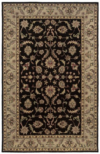 Rizzy Rugs VO-1245 5-Foot-by-8-Foot Volare Area Rug, Transitional Black