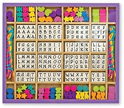 Melissa & Doug Deluxe Wooden Stringing Beads with over 200 beads from Melissa & Doug