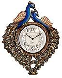 Vintage Clock Peacock Design