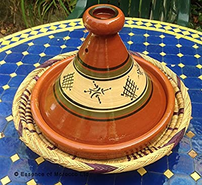 Moroccan Tagine Terracotta Hand-thrownhand-painted