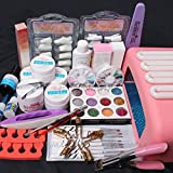 ReNext Professional 26 in1 Nail Art Tips UV Builder Gel Brush 36W Timer Dryer Lamp Decorations Kit