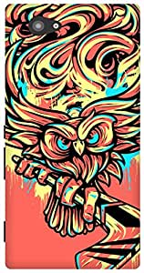 The Racoon Grip Hockey Owl hard plastic printed back case/cover for Sony Xperia M2