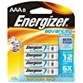 Energizer Advanced Lithium Batteries, AAA Size, 8-Count