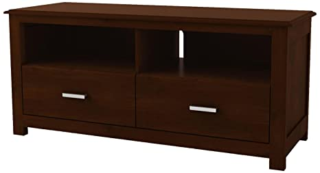 Ameriwood TV Stand with 2 Drawers, Resort Cherry
