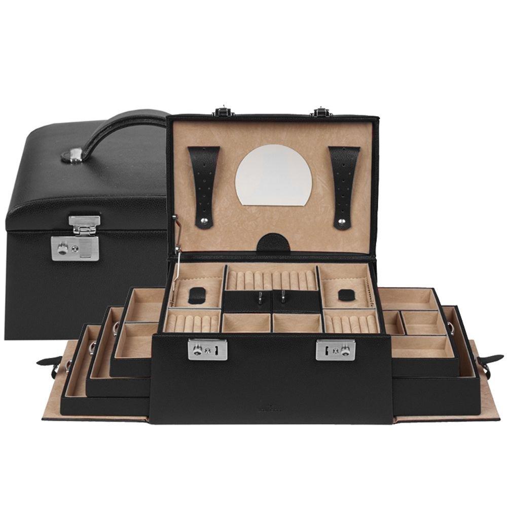 Windrose Beluga Schmuckkoffer mit 5 Seitenschubladen 8 schwarz günstig bestellen