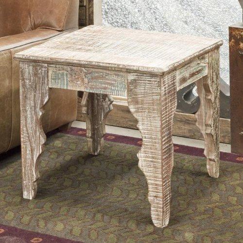 Reclaimed Wood Baturna End Table
