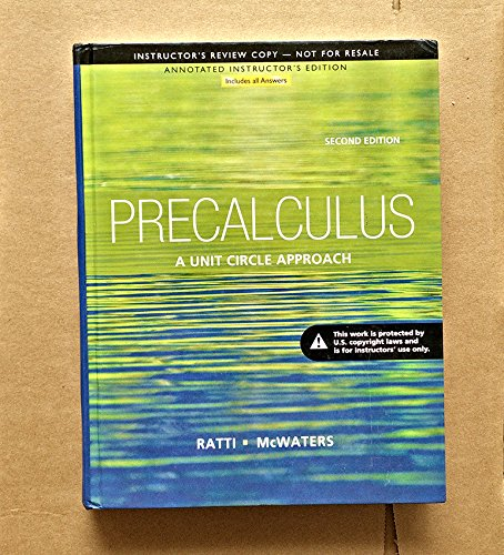 Precalculus Annotated Instructor's Edition