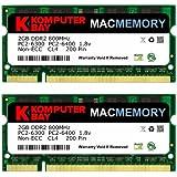Komputerbay MACMEMORY Apple 日本進出記念 メモリ 2枚組 DDR2 800MHz PC2-6400 2GBX2 DUAL 200pin SODIMM ノート パソコン用 増設メモリ iMac と Macbook