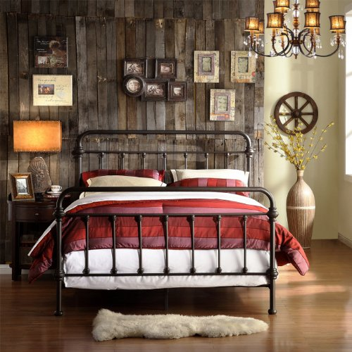 Buy Discount Home Creek Antique-Style Katherine Metal Frame Bed