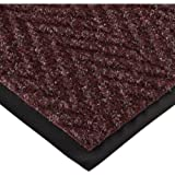 """NoTrax 105 Chevron Entrance Mat, for Lobbies and Indoor Entranceways, 3' Width x 6' Length x 5/16"""" Thickness, Burgundy"""